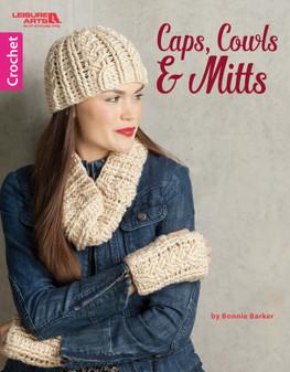 Leisure Arts Caps, Cowls & Mitts Crochet Book