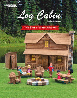 Leisure Arts The Best Of Mary Maxim Log Cabin Plastic Canvas Book
