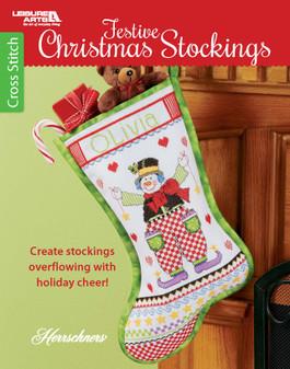 Leisure Arts Festive Christmas Stockings Book