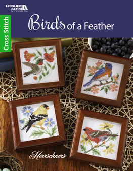 Leisure Arts Birds of A Feather Cross Stitch Book