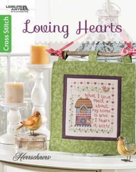 Leisure Arts Loving Hearts Cross Stitch Book