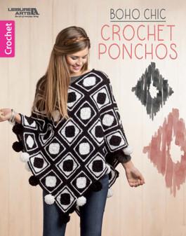 Leisure Arts Boho Chic Crochet Ponchos Book