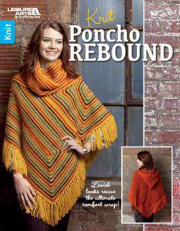 Leisure Arts Knit Poncho Rebound Book