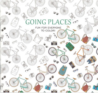 Leisure Arts Going Places Coloring Book