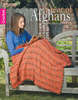 Leisure Arts A Year Of Afghans #16 Crochet Book