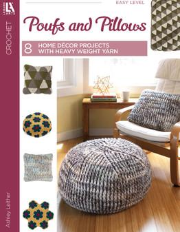 Leisure Arts Poufs & Pillows Crochet Book
