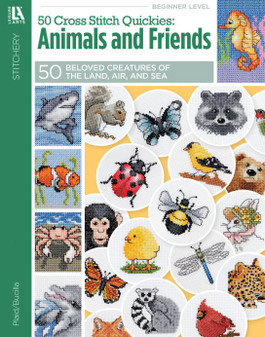 Leisure Arts 50 Cross Stitch Quickies Animals & Friends Book