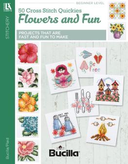 Leisure Arts 50 Cross Stitch Quickies Flowers Book