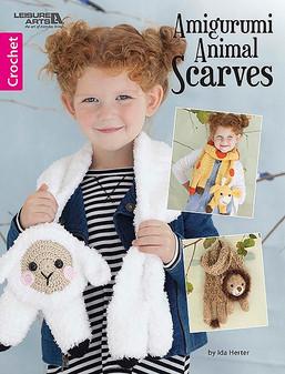Leisure Arts Amigurumi Animal Scarves Crochet Book