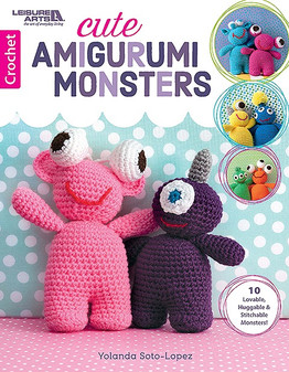Leisure Arts Cute Amigurumi Monsters Book