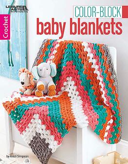 Leisure Arts Color Block Baby Blankets Crochet Book