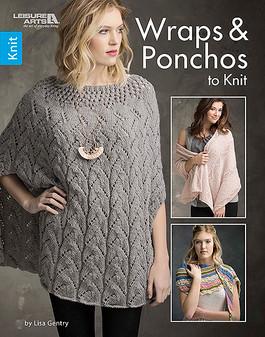 Leisure Arts Wraps & Ponchos To Knit Book