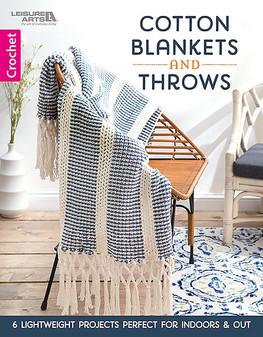 Leisure Arts Cotton Blankets & Throws Crochet Book