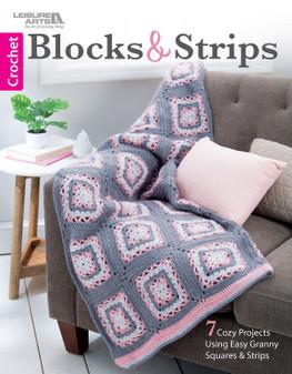 Leisure Arts Blocks & Strips Crochet Book