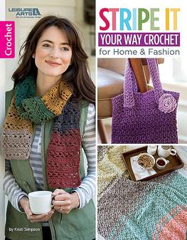 Leisure Arts Stripe It Your Way Crochet Book