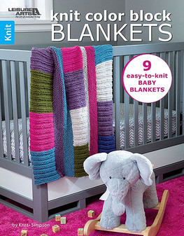 Leisure Arts Knit Color Block Blankets Book