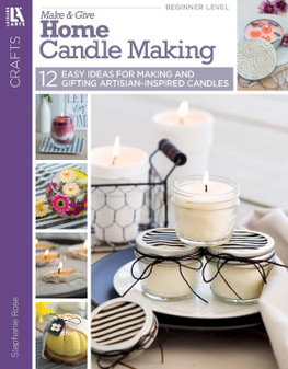 Leisure Arts Make & Give Home Candle Making Book