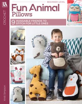 Leisure Arts Fun Animal Pillows Crochet Book