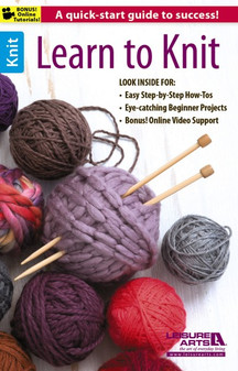 Leisure Arts Learn To Knit Book