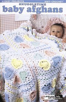 Leisure Arts Snuggletime Baby Afghans Crochet Book
