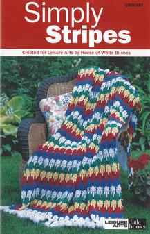 Leisure Arts Crochet Simply Stripes Book