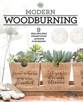 Leisure Arts Modern Woodburning Book