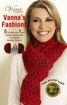 Leisure Arts Lion Brand Vanna's Fashions Crochet Book