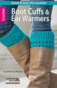 Leisure Arts Boot Cuffs & Ear Warmers Crochet Book