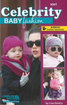 Leisure Arts Celebrity Baby Fashion Knit Book