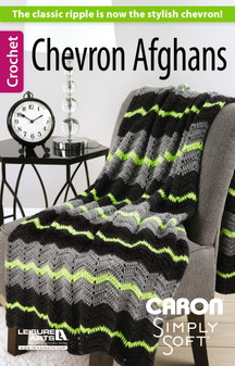 Leisure Arts Chevron Afghans Crochet Book