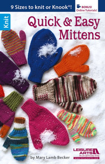Leisure Arts Quick & Easy Mittens To Knit Book