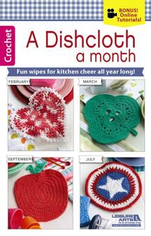 Leisure Arts A Dishcloth A Month Crochet Book