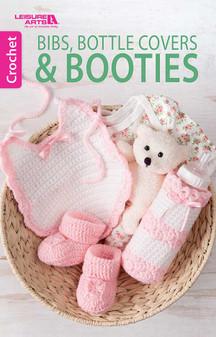 Leisure Arts Bibs, Bottle Covers & Booties Crochet Book