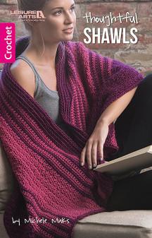 Leisure Arts Thoughtful Shawls Crochet Book
