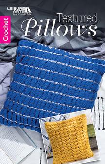 Leisure Arts Textured Pillows Crochet Book