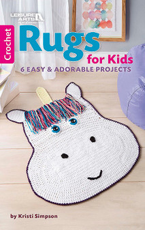Leisure Arts Rugs For Kids Crochet Book