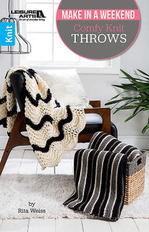 Leisure Arts Make In A Weekend Comfy Knit Throws Book
