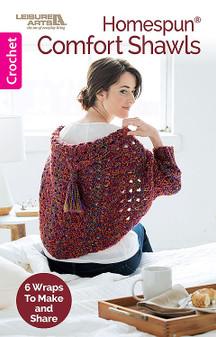Leisure Arts Homespun Comfort Shawls Crochet Book