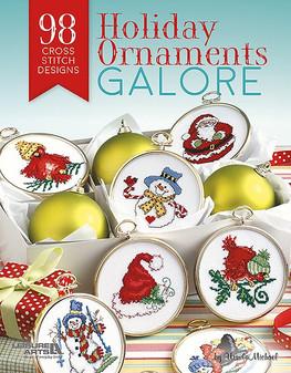 Leisure Arts Cross Stitch Holiday Ornaments Galore Book