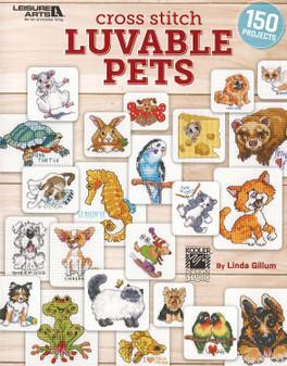 Leisure Arts Cross Stitch Luvable Pets Book