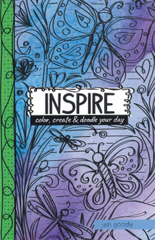 Leisure Arts Doodle Pages Inspire Coloring Book