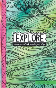 Leisure Arts Doodle Pages Explore Coloring Book