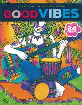 Leisure Arts Myka Jelina Good Vibes Coloring Book