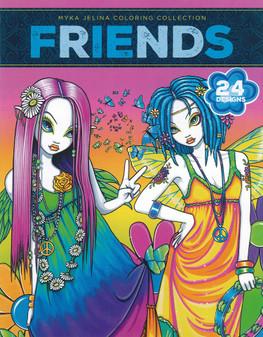 Leisure Arts Myka Jelina Friends Coloring Book
