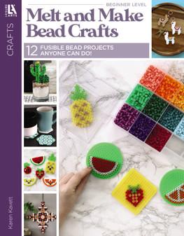 Leisure Arts Crafts Melt And Make Bead Crafts Book