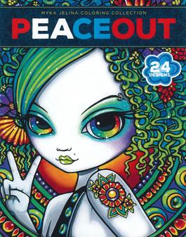 Leisure Arts Myka Jelina Peace Out Coloring Book