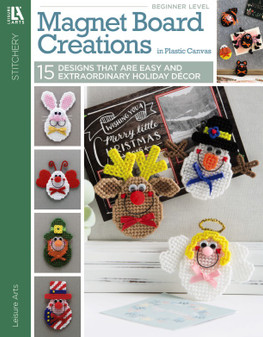 Leisure Arts Magnet Board Creations Plastic Canvas Book