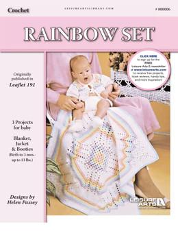 ePattern Rainbow Set (Jacket, booties, & blanket)