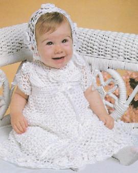 ePattern Crochet Christening Set Pattern