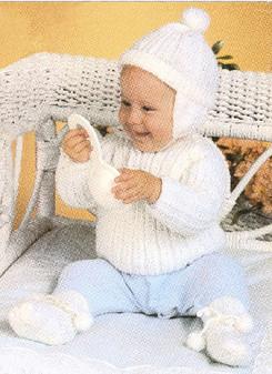 ePattern Knit Sweater, Hat, Booties Pattern